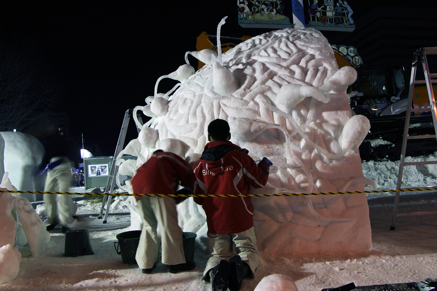 Singapore:In The Beginning/The 42nd International Snow Sculpture Contest 2015(SAPPORO SNOW FESTIVAL)